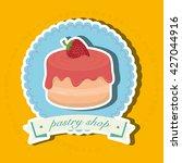 bakery shop design  | Shutterstock .eps vector #427044916
