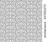 seamless linear ornamental... | Shutterstock .eps vector #427052275