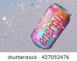 energy drink and splash 3d... | Shutterstock . vector #427052476