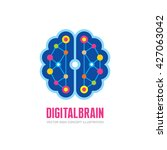digital human brain   vector... | Shutterstock .eps vector #427063042