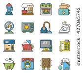 icon set appliance vector | Shutterstock .eps vector #427065742