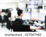 blurred group of employee... | Shutterstock . vector #427067482
