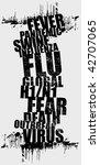 swine flu 2 | Shutterstock .eps vector #42707065