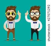 vector hipster character toon... | Shutterstock .eps vector #427071292
