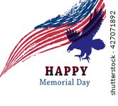 happy memorial day with eagle... | Shutterstock .eps vector #427071892
