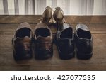 man and woman shoes light and... | Shutterstock . vector #427077535