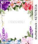 floral invitation  | Shutterstock .eps vector #427078216