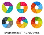 set of six round infographic... | Shutterstock .eps vector #427079956