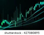 stock market or forex trading... | Shutterstock . vector #427080895