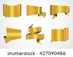 set of golden banners.vector... | Shutterstock .eps vector #427090486