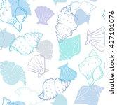 seashell vector background.... | Shutterstock .eps vector #427101076