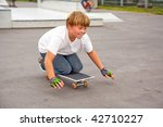boys are skating on a... | Shutterstock . vector #42710227