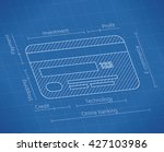 abstract unusual blueprint of... | Shutterstock .eps vector #427103986