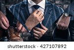 man wearing a suit  fashion | Shutterstock . vector #427107892