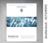 abstract vector modern flyers... | Shutterstock .eps vector #427109092
