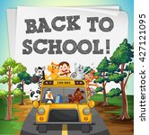 back to school theme with... | Shutterstock .eps vector #427121095
