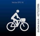 flat cyclist icon | Shutterstock .eps vector #427121986