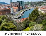 view of bilbao city from... | Shutterstock . vector #427123906