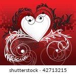 valentine's day frame | Shutterstock .eps vector #42713215