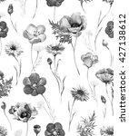 watercolor floral summer...   Shutterstock . vector #427138612