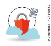data security design. protect... | Shutterstock .eps vector #427140562