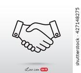 line icon    handshake | Shutterstock .eps vector #427148275