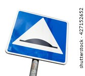 speed bump. square road sign... | Shutterstock . vector #427152652