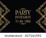 party invitation art deco... | Shutterstock .eps vector #427161592