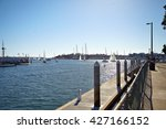 sailboats back to the marina... | Shutterstock . vector #427166152