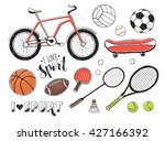 collection of vector sport... | Shutterstock .eps vector #427166392