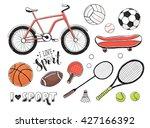 collection of vector sport... | Shutterstock .eps vector #427166392