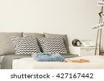 large bed decorated with... | Shutterstock . vector #427167442