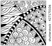 hand drawn zentangle pattern.... | Shutterstock . vector #427170106