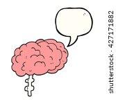 freehand drawn speech bubble... | Shutterstock .eps vector #427171882