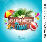 vector summer time holiday... | Shutterstock .eps vector #427177108