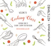 cooking class flayer template.... | Shutterstock .eps vector #427178482