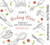 cooking class flayer template.... | Shutterstock .eps vector #427178482