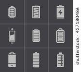vector black battery icons set... | Shutterstock .eps vector #427180486