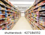 abstract blurred photo of store ... | Shutterstock . vector #427186552