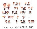 business people vector set | Shutterstock .eps vector #427191205