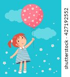 vector illustration of little... | Shutterstock .eps vector #427192552