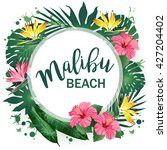 malibu beach party poster.... | Shutterstock .eps vector #427204402