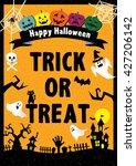 halloween poster   Shutterstock .eps vector #427206142