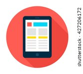 tablet landing page circle icon....