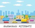 city street | Shutterstock . vector #427206472