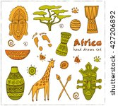 africa sketch icons set....   Shutterstock .eps vector #427206892