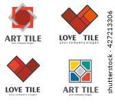 set of logos of ceramic tiles....   Shutterstock .eps vector #427213306