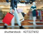 blurred image of female in... | Shutterstock . vector #427227652