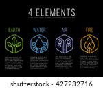 nature 4 elements circle logo...