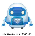 cute cartoon robot | Shutterstock .eps vector #427243312